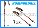 Komperdell Highlander Cork Teleskopowe kijki ANTISHOCK kije Nordic walking red