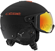 Cébé Element Visor KASK na narty + gogle + szyba zamienna matt black red/red flash mirror + yellow flash mirror