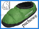 Nordisk Mos Down Shoes puchowe buty turystyczne kapcie zielone