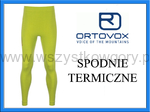 Ortovox Merino Competition Long Pants Men happy green spodnie BIELIZNA TERMICZNA